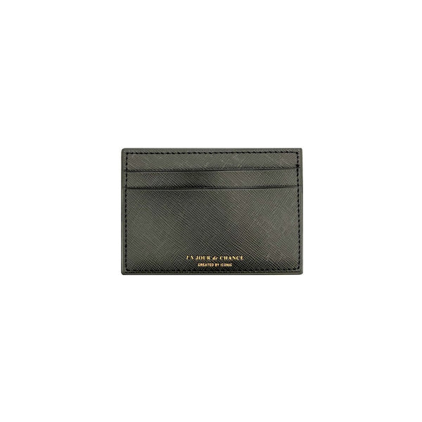 ICONIC Flat CARD POCKET schwarz Made in Korea Geschenk Gift
