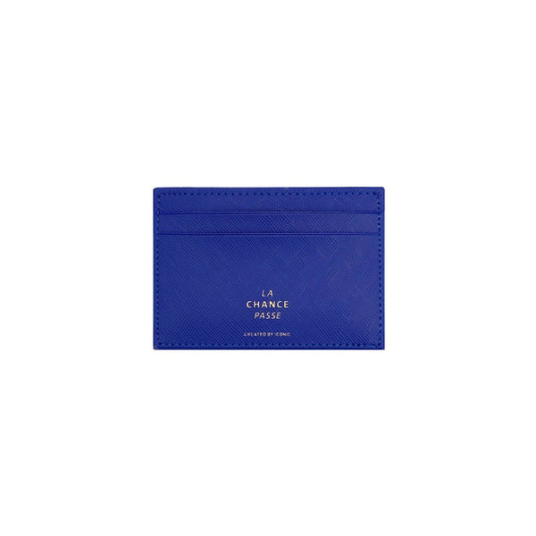 ICONIC Flat CARD POCKET Blau Made in Korea Geschenk Gift