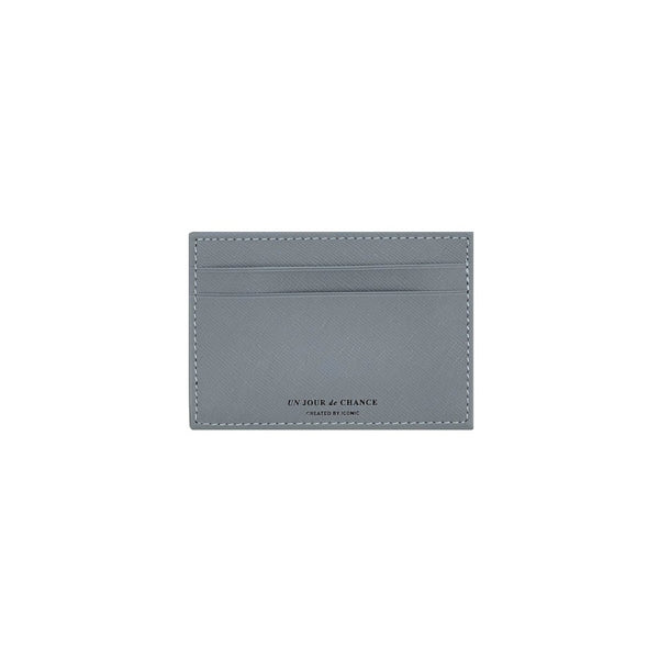 ICONIC Flat CARD POCKET Blaugrau Made in Korea Geschenk Gift