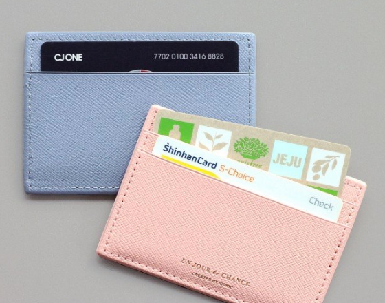 CONIC Flat CARD POCKET rot Made in Korea Geschenk Gift
