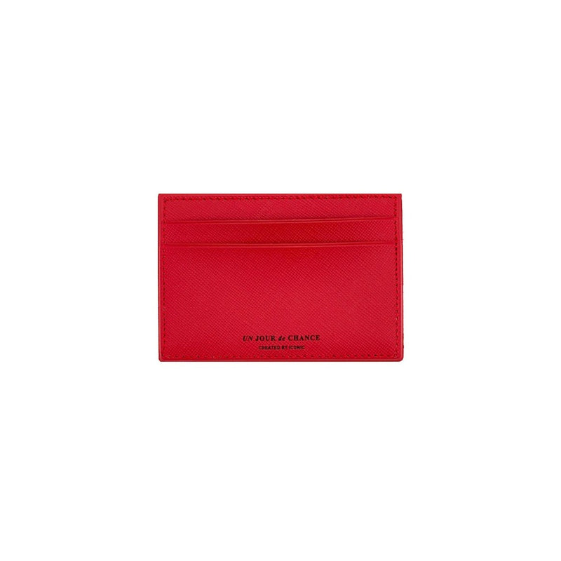 ICONIC Flat CARD POCKET rot Made in Korea Geschenk Gift