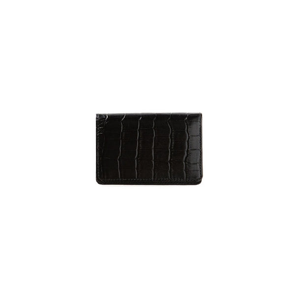 KUNISAWA Leather card case black Made in Japan Geschenk, Gift, Design