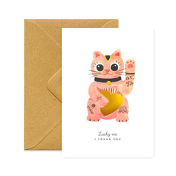 ALLTHEWAYSTOSAY, LUCKY CAT, Greeting Card, Karte, Made in France