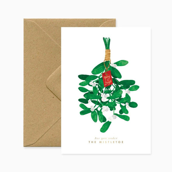 ALLTHEWAYSTOSAY THE MISTLETOE Xmas Greeting Cards Made in France