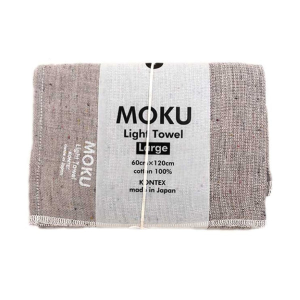 KENKAWAI MOKU L - Leichtes Baumwoll-Handtuch grey made in Japan fair