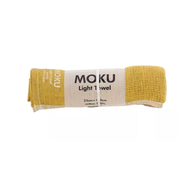 KENKAWAI MOKU M Leichtes Baumwollhandtuch yellow made in Japan fair