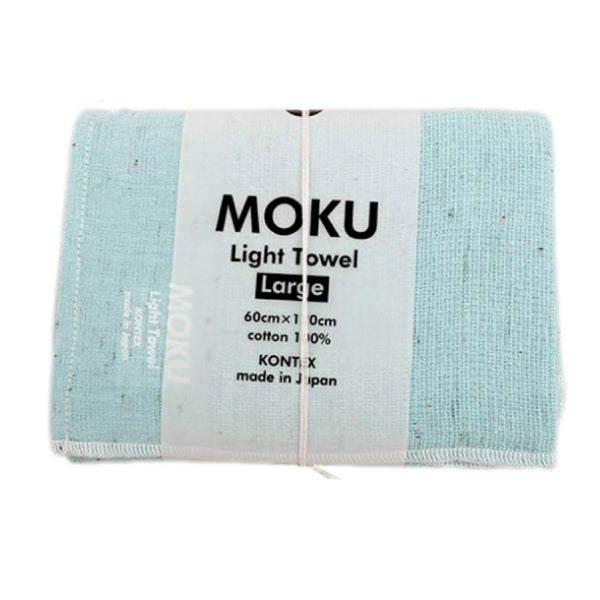 KENKAWAI MOKU L - Leichtes Baumwoll-Handtuch aqua made in Japan fair