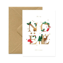 ALLTHEWAYSTOSAY, NOEL_LETTERS Xmas Greeting Cards Made in France