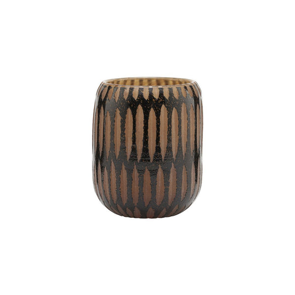 KLEINE VASE PIMPRI, Black/Brown