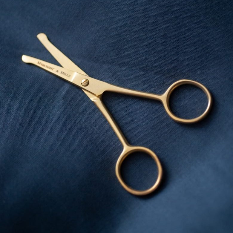 Merchant & Mills, Short Blade Safety Scissors 4″, gold, top Qualität