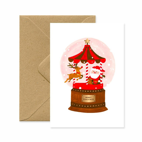 ALLTHEWAYSTOSAY SANTA SNOWBALL Xmas Greeting Cards Made in France
