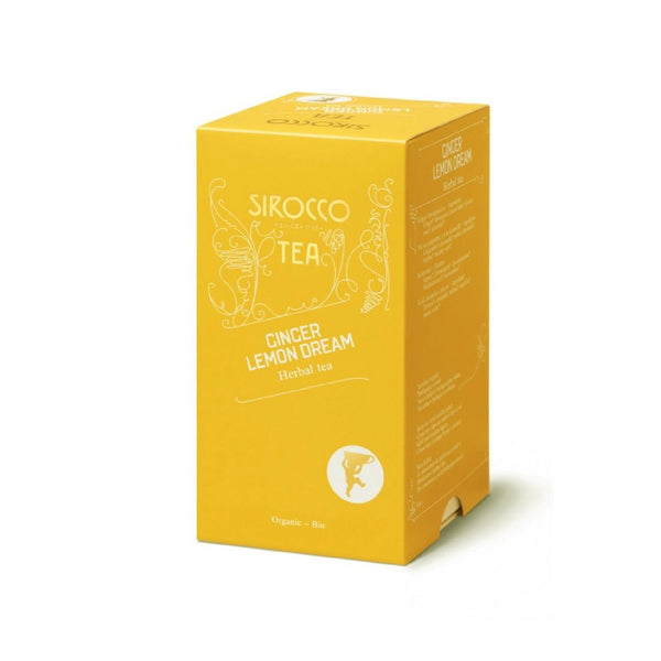 Sirocco, GINGER LEMON DREAM 100% organic  luxury tea bags Teebeutel