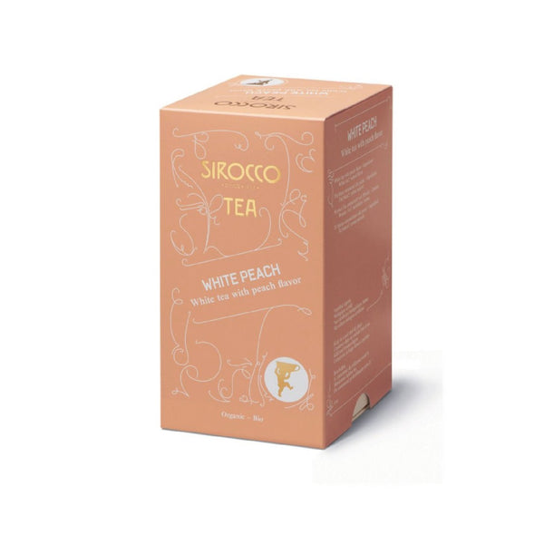Sirocco, WHITE PEACH, weisser Tee, 100% organic handcrafted luxury tea