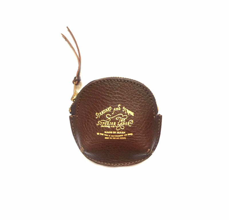 SUPERIOR JAPAN - Zip Coin Case brown Handmade in Japan