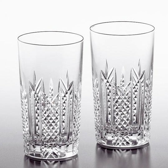 KAGAMI CRYSTAL SET OF 2 TUMBLERS Edo Kiriko Giftidea made in Japan