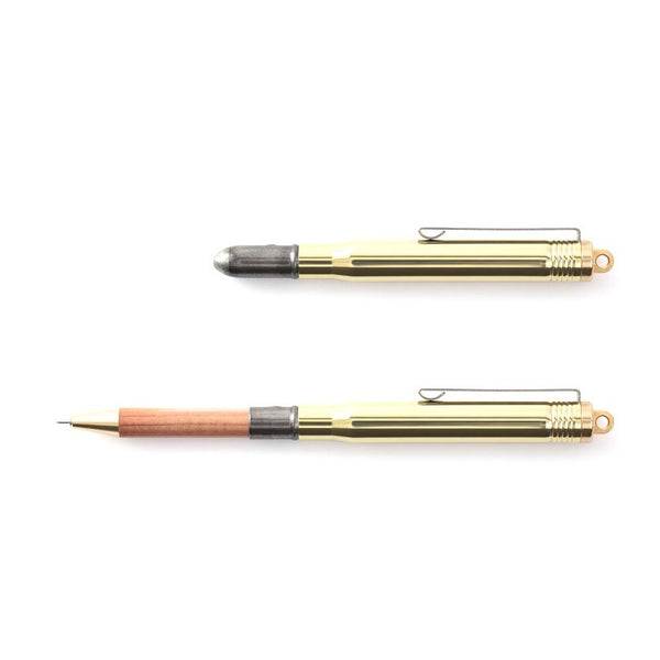 TRAVELERS COMPANY BRASS BALLPOINT PEN, Made in Japan Kugelschreiber