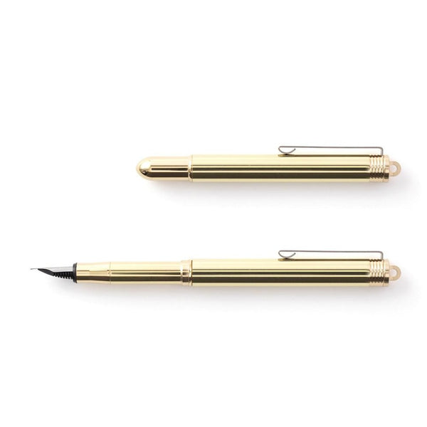 TRAVELERS COMPANY BRASS FOUNTAIN PEN Made in Japan Füllfederhalter