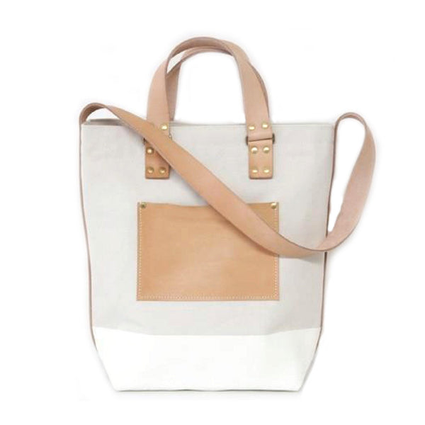 Superior Labor Japan, Canvas 2way Bag white Handmade slowfashion fair