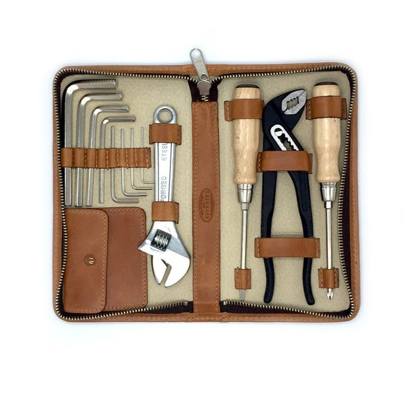 TOOLKIT small Werkzeugset Alpina Leder F.Hammann Handmade in Germany