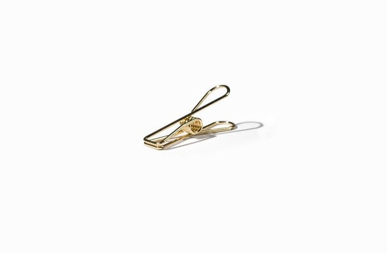 TOOLS TO LIVEBY, WIRE CLIPS gold, Feder Stahl, Design, Decoration
