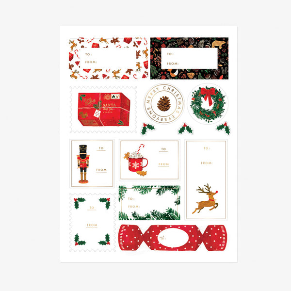 ALLTHEWAYSTOSAY XMAS STICKER SET, Aufkleber, Designed in France