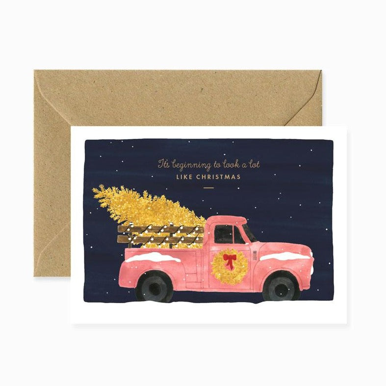 ALLTHEWAYSTOSAY XMAS TRUCK Xmas Greeting Cards Made in France