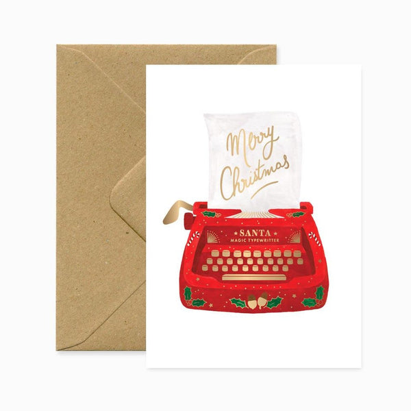 ALLTHEWAYSTOSAY, XMAS TYPEWRITTER Xmas Greeting Cards Made in France
