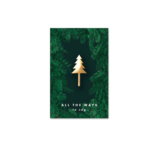 ALLTHEWAYSTOSAY XMAS TREE retro pin emaille Geschenk unique Gift