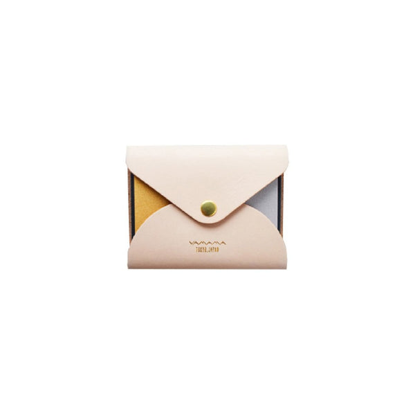 YAMAMA LEATHER COVER NATURE -  STICKY NOTES GOLD SILVER