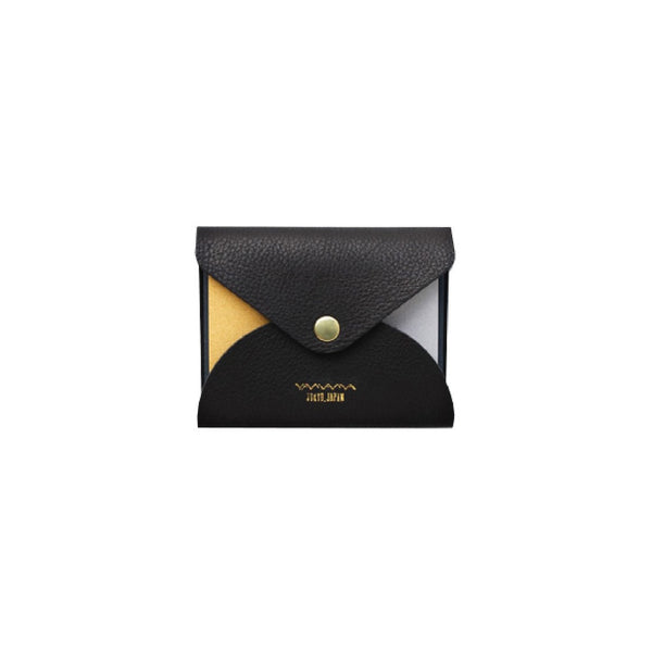 YAMAMA LEATHER COVER BLACK -  STICKY NOTES GOLD SILVER