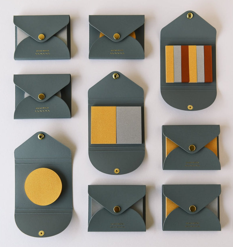 YAMAMA STICKY NOTES, gold, Made in Japan Geschenk unique gift, Design