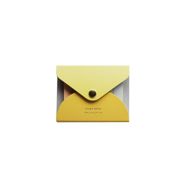 YAMAMA Haftnotizen Sticky Notes Cover in Gelb Made in Japan Design