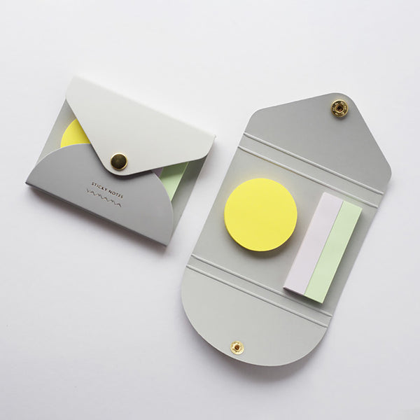 YAMAMA Haftnotizen Sticky Notes Cover in Grau Made in Japan Design