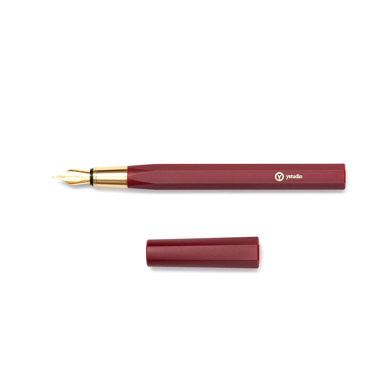 YStudio Resin Fountain Pen red Handcrafted in Taiwan Design Geschenk