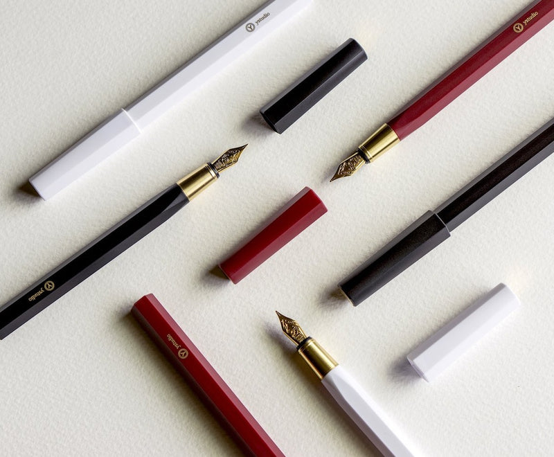 Ystudio_Resin_Fountain_Pen_White_1