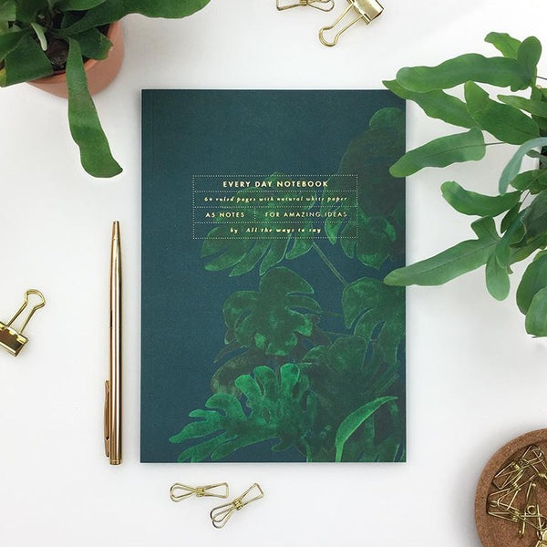 ALLTHEWAYSTOSAY MONSTERA A5 Notizbuch, Made in France Homeoffice Gift