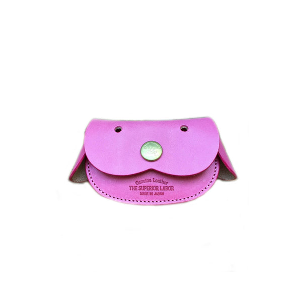 Superior Labor Japan DOG COIN CASE Geschenk Handmade crafted pink