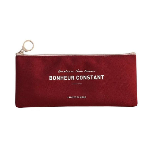 ICONIC BASIC PENCASE burgundy Made in Korea Geschenk Gift stationary