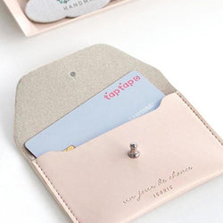 ICONIC SLIT NECK CARD POCKET indipink Made in Korea Geschenk Gift