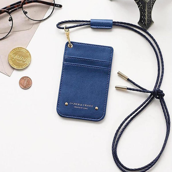 SWING NECK CARD POCKET - deep blue - ASANDRI STUDIO
