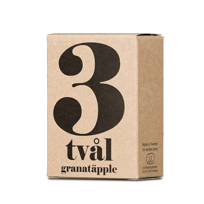 Terrible Twins, SOAP BAR No3 - Granatapfel, handwash, organic vegan