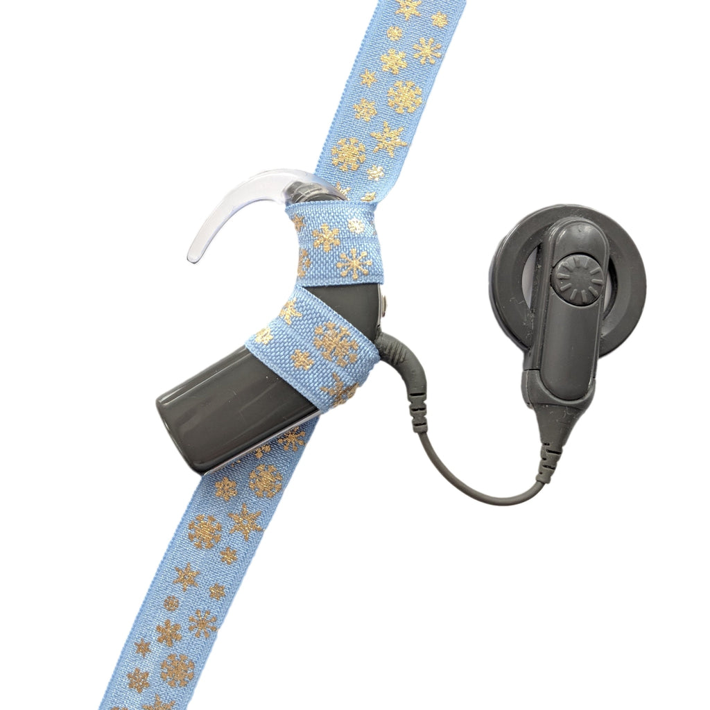 Gold Snowflakes Cochlear Implant Headbands