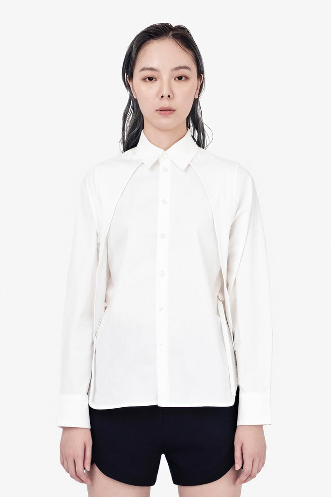 SEANNUNG - 層次披肩襯衫 Double Layered Shoulder Detail Shirt - Woman