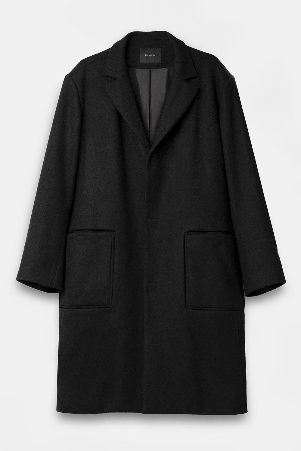 Wool coat in Black