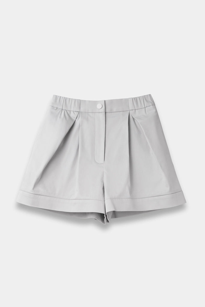 SEANNUNG - 灰色層次褲裙 Layered Skort in Grey - Woman