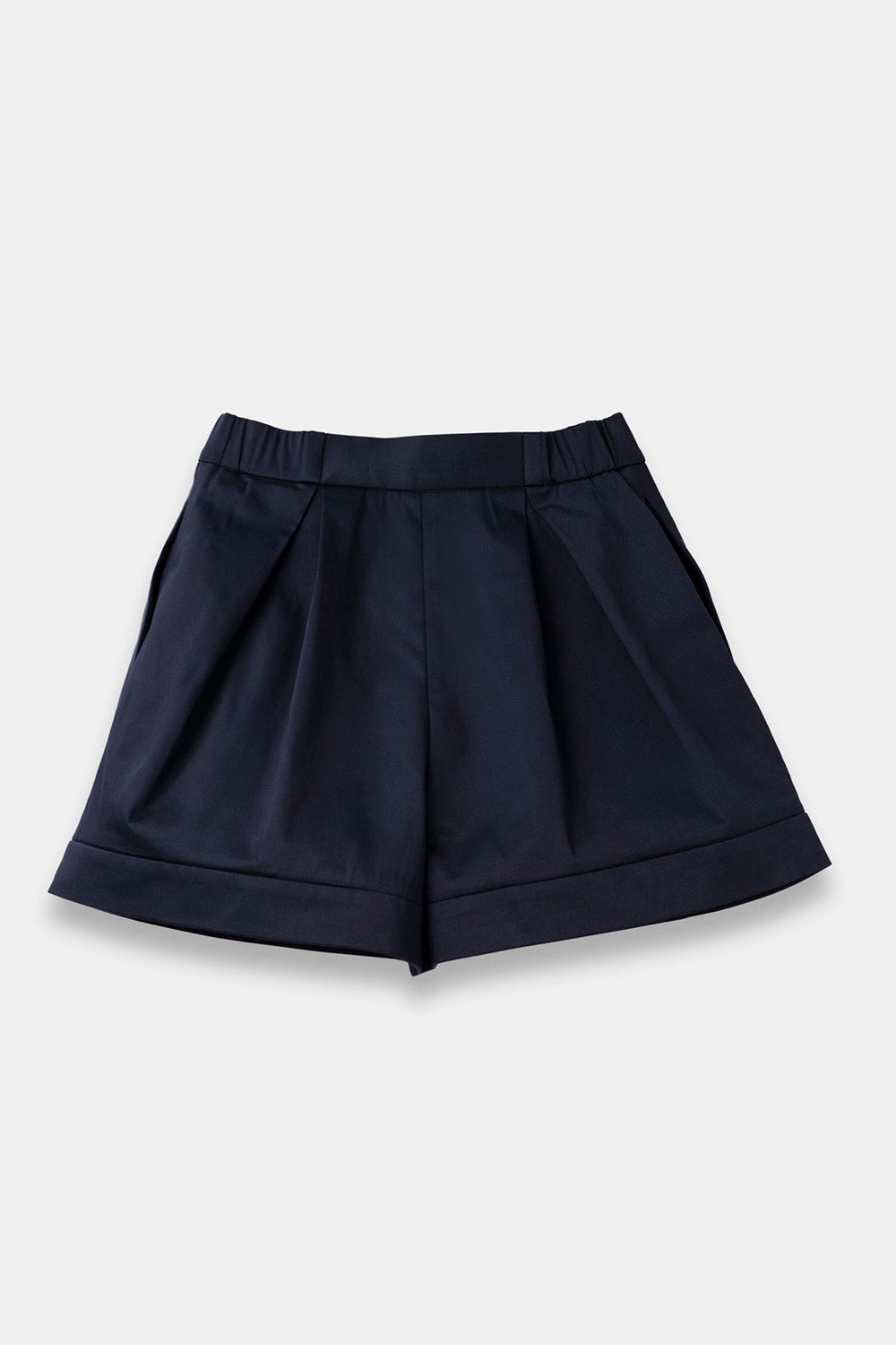 SEANNUNG - 深藍色層次褲裙 Layered Skort in Navy - Woman