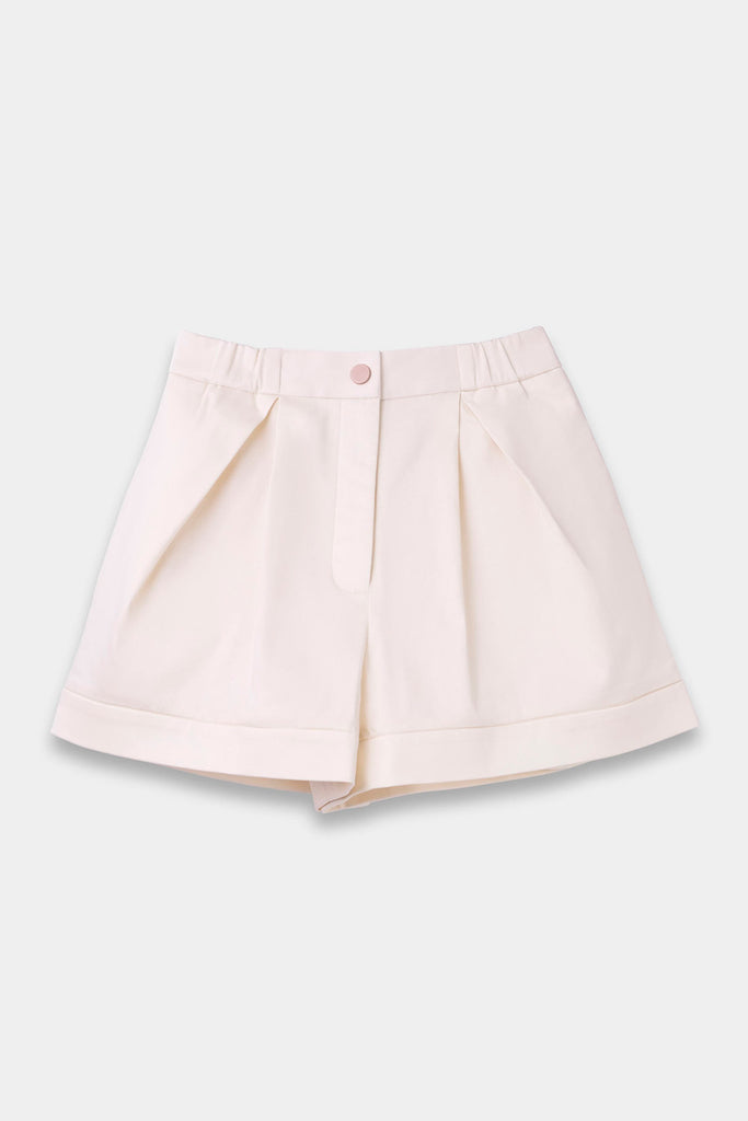 SEANNUNG - 粉紅色層次褲裙 Layered Skort in Pink - Woman