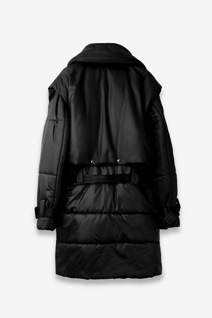 Padded parka in Dark Black