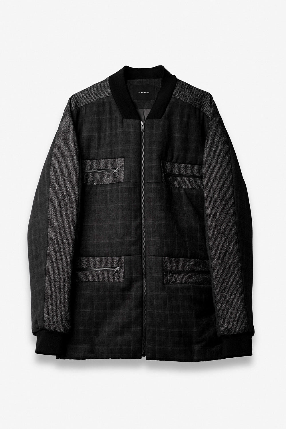 Square Cut Padded Jacket in Grey