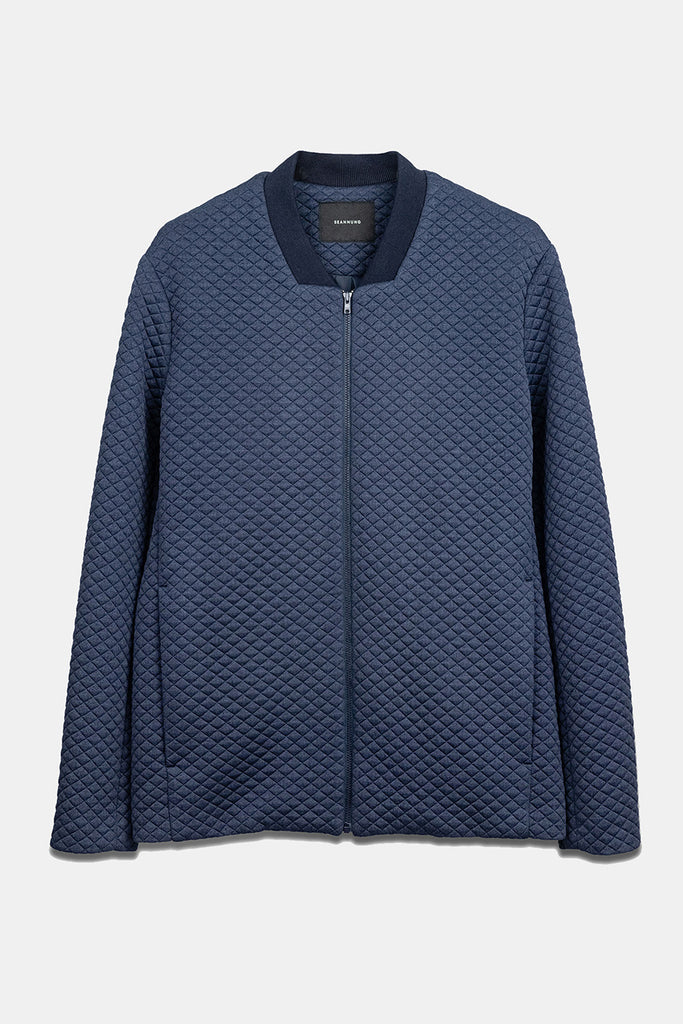 SEANNUNG -深藍色鑽石壓紋正裝運動外套 Formal sports jacket with Diamond rib in Navy- Men